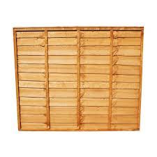 Fence Panel Waney Lap 6ft W X 5ft H 1 8m X 1 5m