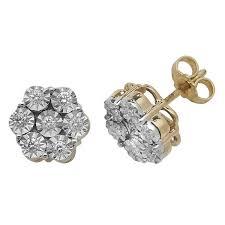 stud earrings in 9ct yellow gold