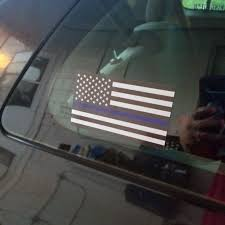 2pcs 5 Thin Blue Line Flag Vinyl Car Sticker Blue Lives Matter American Flag Car Stickers And Decals Bumper Window Decoration Car Stickers Aliexpress