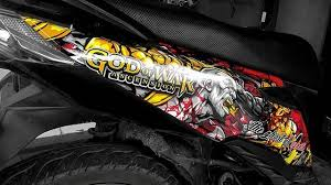 New Honda Beat God Of War Decal Sticker Honda Hondabeat Beatstreet Godofwar Kratos Orajet Decal Decalkit Blacksheepstickart Blacksheepsticker Stiker