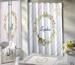 Woodland Animals Woodland Curtains Fox Deer Kids Bathroom Curtains 431 Eloquent Innovations