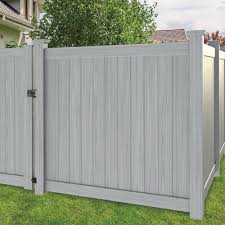 Hampton 6x6 Vinyl Privacy Fence Kit Vinyl Fence Freedom Outdoor Living For Lowes Modern Design In 2020 Vinyl Fence Panels Vinyl Privacy Fence Vinyl Fence