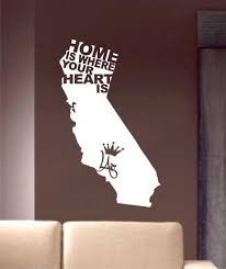Home Is Where Your Heart Is California La Los Angeles Design Decal Sti Boop Decals
