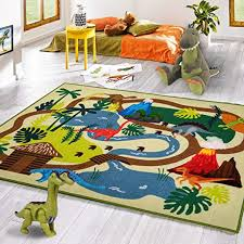 Amazon Com Kid Rugs Dinosaur Activity Area Rug 39 X59 Educational Learning Carpet For Boys And Girls Fun Rug Playmat For Bedroom Living Room And Gameroom Fun Play Rug For Boys And Girls Kitchen