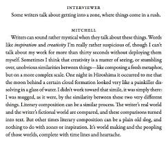 David Mitchell The Art of Fiction No. 204 interviewed by Adam Begley  published in The Paris Review no. 193 (Summer 201… | Indie books, Book  worms, Words