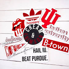 Iu Indiana University Hoosiers Large White Decal Sports Mem Cards Fan Shop College Ncaa Dr Lindner Ipn Co Il