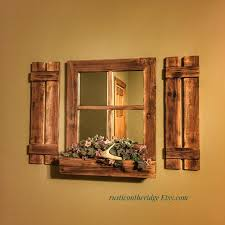 shutter mirrorrustic farmhouse