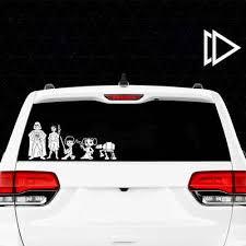 Star Wars Stick Figure Family Vinyl Decal Car Window Sticker Jedi Force Bb 8 Ebay