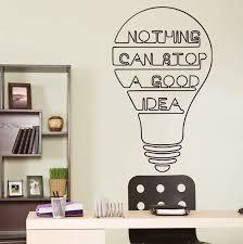 Good Idea Bulb Words Motivation Quote Wall Decal Home Decor Art Sticker Vinyl Inspirational Quote Wall Decal Quote Yo 1 Wall Decals Quotes Motivational Quotesinspirational Quotes Aliexpress