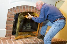 clean the glass on your gas fireplace
