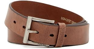 fossil robinson leather belt in brown