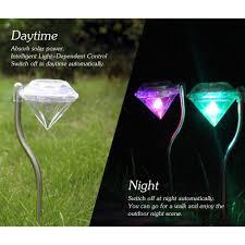 4pcs Outdoor Led Path Lamp Diamond Lights Solar Power Night Lights Flower Lamp Home Garden Fence Light Yard Lawn Decoration Gift Lazada Ph