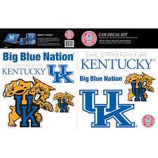 Skinit Kentucky Wildcats Car Decal Kit Walmart Com Walmart Com