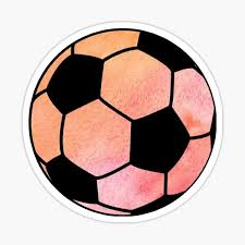 Watercolor Soccer Ball Sticker By Sluggishsloth Redbubble