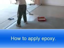 apply rust oleum garage floor
