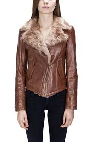 womens fur lined leather biker jacket