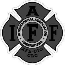 Grey Iaff International Association Firefighters Sticker At Sticker Shoppe