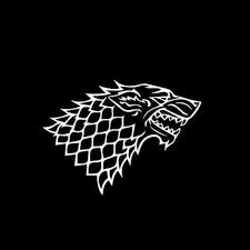 Game Of Thrones House Of Stark Outline Decal Sticker