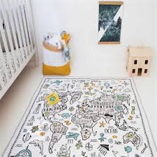 Nordic Baby Play Mats Kids World Map Rug Crawling Children S Carpet In The Nursery Toys Infant Gym Playmat Floor Room Decoration Play Mats Aliexpress