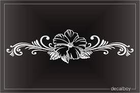 Hibiscus Hawaiian Flower Stripe Decal