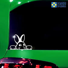 Decals Bumper Stickers Car Sticker Car Decal Cartoon Bunny Happy Rabbit Car Sticker Auto Motorcycle Decal Animal Car Styling For Car Laptop Window Sticker Itrainkids Com