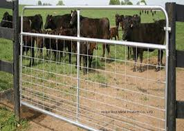 Fully Welded Hot Dipped Gal Farm Steel Gates Liivestock Fence Panels