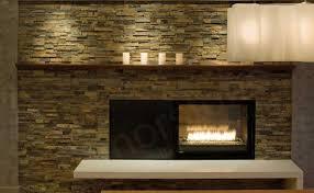 stylish stone veneer fireplace surround
