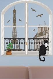 Art Applique Paris Trompe L Oeil Removable Wall Decal Set Hautelook Wall Decor Decals Wall Decals Removable Wall Decals