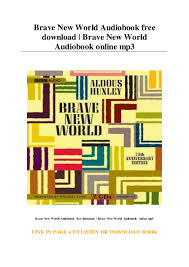 Brave New World Audiobook free download ...