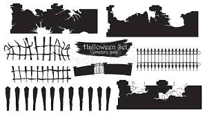 Spooky Cemetery Gate Silhouette Collection Of Halloween Vector I Stock Vector Illustration Of Entrance Icon 127179000