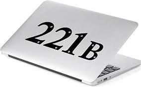 Amazon Com Yoonek Graphics Sherlock Holmes 221b Baker Street Decal Sticker For Car Window Laptop And More 513 2 X 5 6 Black Automotive