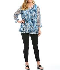 Ali Miles Plus Size Mesh Printed Tunic Top | Tunic tops, Tops ...