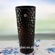 design colored tall glass flower vase