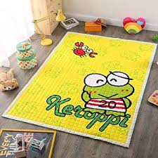 Buy Keroppi Yellow Rug For Nursery Kids Play Room Infant Play Yoga Mat Carpets For Kids 4 7 Ft X6 3 Ft In Cheap Price On M Alibaba Com