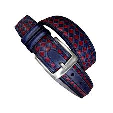 red and blue leather talla 85 cm
