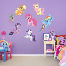 My Little Pony Mural Huge Officially Licensed Removable Wall Graphic Wall Decal Shop Fathead Kids Room Wall Decals My Little Pony Bedroom Kids Wall Decals
