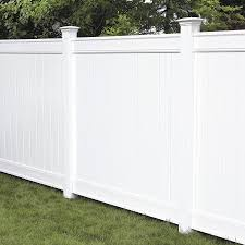 Freedom Ready To Assemble Everton 6 Ft H X 6 Ft W White Vinyl Flat Top Fence Panel Lowes Com Vinyl Fence Panels Vinyl Fence Vinyl Privacy Fence