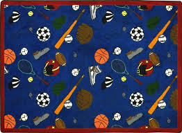 Kids Sports Themed Rug Sports Carpet Rtr Kids Rugs