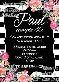 Invitacion Digital Imprimible Rayas Y Flores 65 00 En Mercado