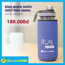 Điện máy XANH (dienmayxanh.com) - Bình đựng nước thủy tinh 850ml DMX  BL-1982 Xanh MUA NGAY ➤➤➤ https://dmx.vn/rVeZGbdU ⛔ KM áp dụng đến hết 31/3