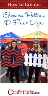 How To Make A Diy D Fence Sign Craftcuts Com Fence Signs Cheer Signs Chevron Pattern