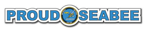 Seabee Bumper Sticker With Emblem Decal
