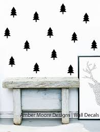 Pine Tree Decal Small Pine Tree Decals Tree Wall Pattern Forest Wall Decal Woodland Decals Forest Wall Decals Wall Stickers Woodland Small Pine Trees