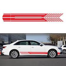 Car Body Racing Side Door Long Striped Sticker Auto Vinyl Decal For Bmw Ford Walmart Com Walmart Com
