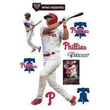 Philadelphia Phillies Rhys Hoskins Fathead 11 Pack Life Size Removable Wall Decal