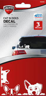 Auto Drive Cat Dogs Car Decal Walmart Com Walmart Com