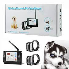 The Best Bling Bling Petsfun Electric Wireless Dog Fence System For2 Dogs Pet Containment System For Dog And Pets With Waterproof And Rechargeable Training Collar Receiver For 2 Dogs Boundary Container