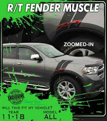 R T Muscle 2011 2020 Dodge Durango Rt Muscle Hood Graphics Fender Decals Stripes Premium 3m Vinyl Decal Kit Truck Decals Custom Graphics For Muscle Cars Elite Limit