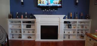 custom fireplace side shelves saratoga