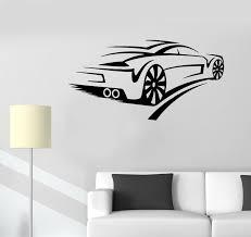 Wall Decal Car Racing Sports Street Supercar Speed Vinyl Sticker Ed17 Wallstickers4you